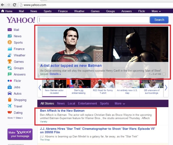 The page layout wizards at Yahoo! do it again.