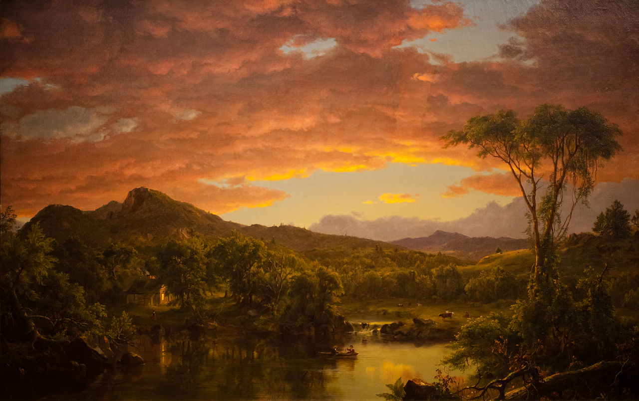 Asher brown durand gently hew stone for Frederick church paintings