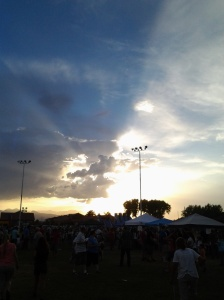 Sunset at North Las Vegas Stake Pioneer Day, Saturday, July 26, 2014