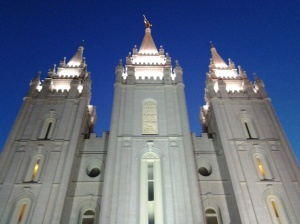 My favorite view of the Salt Lake Temple: Saturday, August 30, 2014.