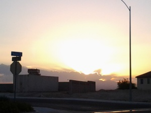 Sunrise on my way to work, Friday, September 5, 2014.