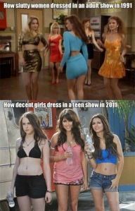 how slutty women dressed
