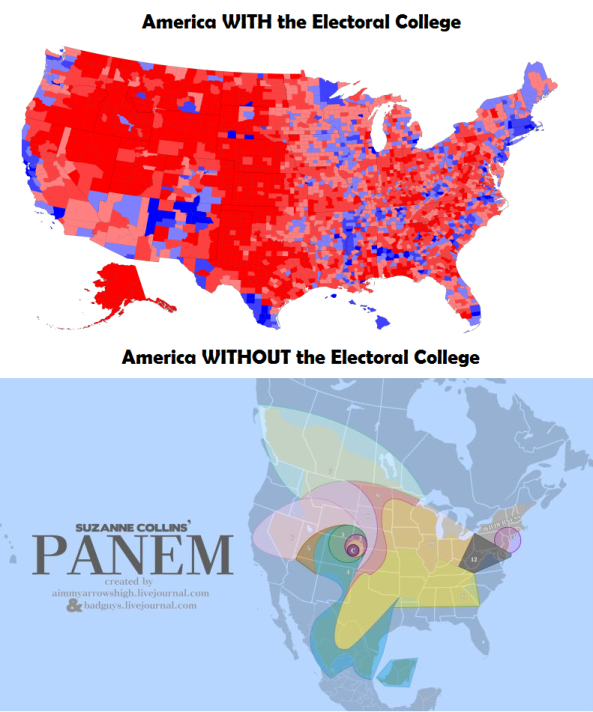 The Electoral College Stops The Hunger Games From Coming True - Hunger-games-us-map